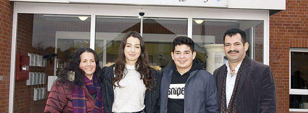 Familie Kola aus Albanien in Haffkrug
